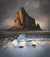 The moody and monolithic Shiprock in NM