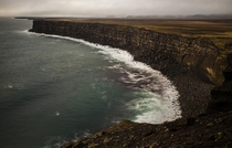 The moody Krsuvkurberg Cliffs in the Reykjanes Peninsula