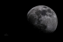 The moon at KM taken with an  newtonian telescope