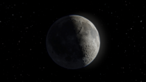 The Moon made in Blender