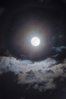 The moon on a partly cloudy night