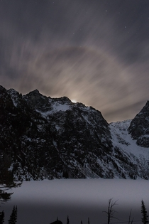 The moon rising next to Asgard Pass in the Enchantments WA Photo by Jason George