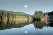 The Moon Rising over Trout Lake Sunshine Coast BC Canada  henryhawkins