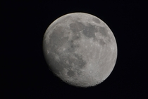 The moon taken with my Nikon D and Orion Starblast  Equitorial