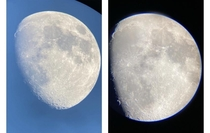 The moon yesterday at  and