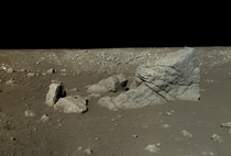 The Moons surface in true color and high definition taken by Chinas Yutu Rover