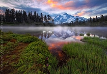 The morning sunrise at Mt Shuksan in Washington State Photo by Aaron Reed