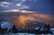 The most beautiful light Ive ever experienced this morning over Washoe Valley NV It almost brought tears to my eyes