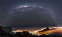 The Most Incredible Image of Cape Town Silhouetted by the Milky Way by Janik Alheit X