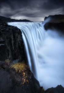 The most powerful waterfall in Europe shot using a long exposure - Dettifoss Iceland
