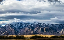 The mountains near Logan Utah