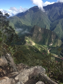 The mountains of Machu Picchu in Peru