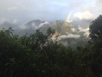 The mountains of Machu Picchu taken by my friend during a recent excursion  x