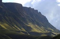 The mountains of the Sani Pass in the Drakensberg Mountains between South Africa and Lesotho  photo by Mark Peacock