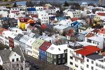 The multicolored houses of downtown Reykjavik Iceland  by The Blonde Dutch Girl x-post rIsland