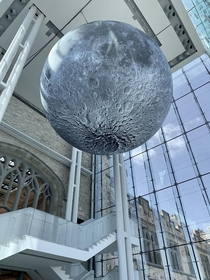 The Museum of Nature in Ottawa Canada installed this massive sculpture of the moon to commemorate the th anniversary of Apollo