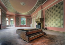 The music room Abandoned Palace in Poland  Photo by Bartek Pootczak