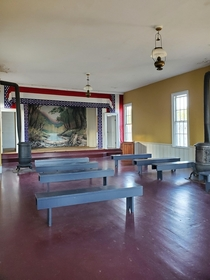 The music room in a now historically preserved but once bustling iron smelting town Fayette MI