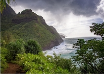The Napali coast on the island of Kauai