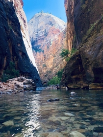 The Narrows on an uncrowded day Zion NP