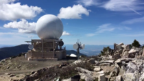 The National Weather Services Doppler radar on Mount Ashland Oregon