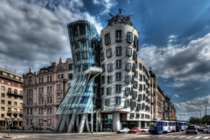 The Nationale-Nederlanden building aka The Dancing House designed by architect Vlado Miluni in cooperation with architect Frank Gehry - Prague Czech Republic