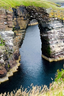 The Natural Arch - Caithness Coast Scotland