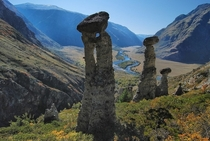 The natural rock formations of Altai Ak Qurum in Russia Photo by Igor Viktorovich