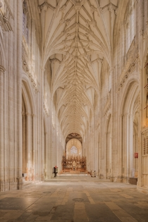 The nave inside Winchester Cathedral England