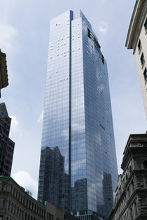 The nearly-finished Millennium Tower in Boston MA