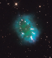 The Necklace Nebula a -trillion-kilometre-wide planetary nebula located about  light-years away in the northern constellation Sagitta