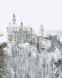 The Neuschwanstein Castle in Winter