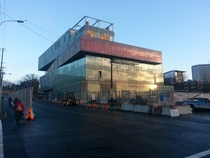 The new central library of Halifax Nova Scotia looks like a stack of books xp rhalifax