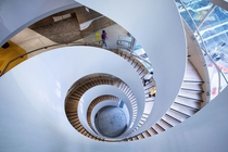 The new double helix staircase at Sydney UTS