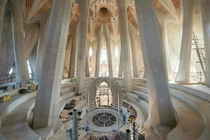 The new Sala Cruzero - The room that goes under the highest tower of the Sagrada Familia Planned for
