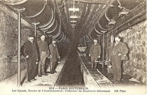 The new water pipes and sewers built under the Boulevard Sebastopol Paris in