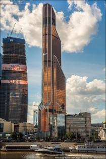 The newly constructed Mercury City Tower Moscow Russia - The tallest building in Europe