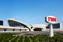 The newly refurbished TWA Hotel former TWA Terminal by Eero Saarinen New York City