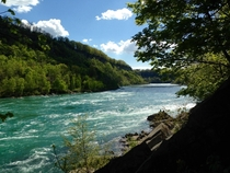 The Niagara Gorge just a few kilometres down from the falls - Canada