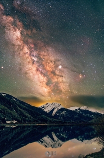 The night skies in Colorado are truly something elseThe Milky Way over Mt Sneffels