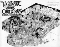 The Nightmare Before Christmas disney ride that never was Fun map style