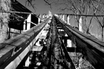 The Nightmare roller coaster located in the now abandoned Joyland Amusement Park in Wichita KS OC -