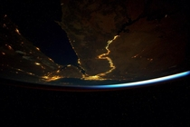 The Nile at night is like a jewel Photographed from the International Space Station by astronaut Scott Kelly