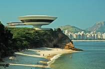 The Niteri Contemporary Art Museum also know as the MAC was designed by Brazilian architect Oscar Niemeyer and completed in