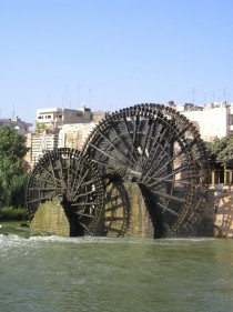 The Norias of Hama Syria originally built in the th-century to irrigate farmland