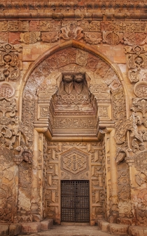 The north portal of the Divrii Great Mosque in Sivas Province Turkey Seljuk architecture
