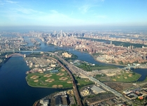The Northeast Corridor and Triboro Bridge Randalls Island NYC