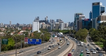 The northern approach to the Sydney Harbour Bridge the Warringah Freeway - Sydney Australia