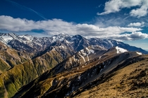 The Northern End of the Southern Alps Kaikoura Ranges New Zealand