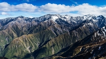 The northern end of the Southern Alps Seaward Kaikoura Range New Zealand